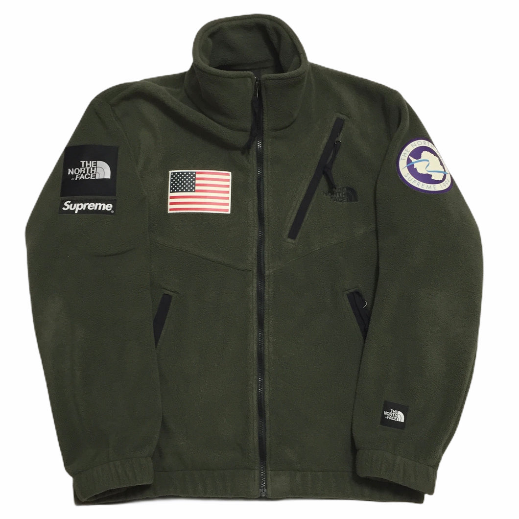 2017 Supreme x The North Face Olive Antartica Fleece