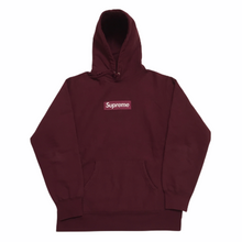 Load image into Gallery viewer, 2011 Supreme Burgundy Box Logo Hoodie