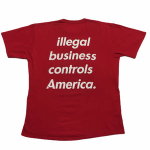 2005 Supreme Illegal Business Controls America Red Tee
