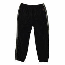 Load image into Gallery viewer, 2016 Supreme Black Grey Velour Trackpants