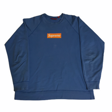 Load image into Gallery viewer, 2007 Supreme Orange Screenprint Box Logo Crewneck