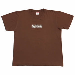 2019 Supreme Brown Paisley Box Logo Tee
