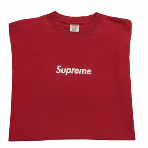 2001 Supreme Red Tonal Box Logo Tee