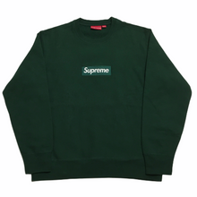 Load image into Gallery viewer, 2018 Supreme Forest Green Box Logo Crewneck