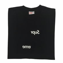 Load image into Gallery viewer, 2018 Supreme x COMMEdesGARÇONS Black Split Box Logo Tee