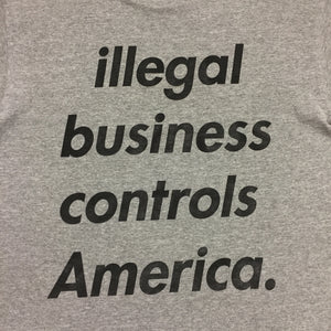 2005 Supreme Illegal Business Controls America Tee