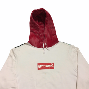2014 Supreme x COMMEdesGARÇONS Red Harold Hunter Box Logo Hoodie