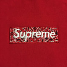 Load image into Gallery viewer, 2019 Supreme Red Bandana Paisley Box Logo Hoodie