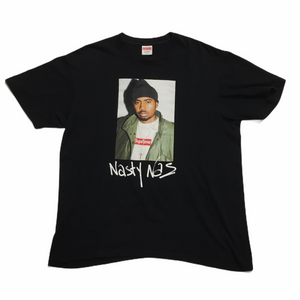 2017 Supreme Nas Black Photo Tee