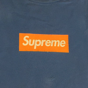 2007 Supreme Orange Screenprint Box Logo Crewneck