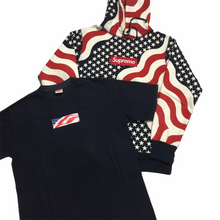Load image into Gallery viewer, 2014 Supreme USA Flag Box Logo Hoodie