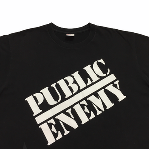 2018 Supreme x Public Enemy x Undercover Blow Your Mind Black Tee