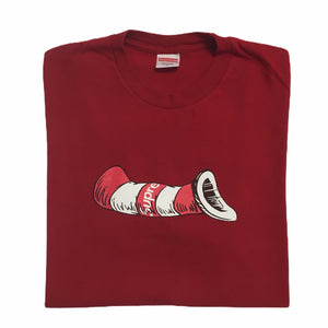 2018 Supreme Red Cat In The Hat Tee