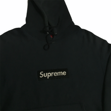 Load image into Gallery viewer, 1995 Supreme Navy Nylon Box Logo Hoodie