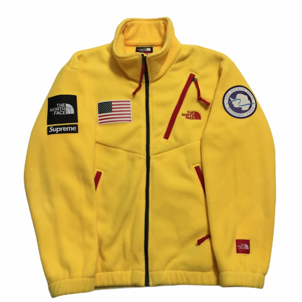 2017 Supreme x The North Face Yellow Antartica Fleece