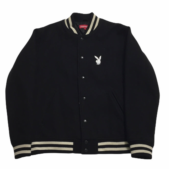 2011 Supreme Playboy Black Varsity Jacket