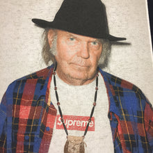 Load image into Gallery viewer, 2015 Supreme Neil Young Navy Photo Tee