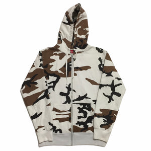 2016 Supreme Cow Camo Zip Up Hoodie