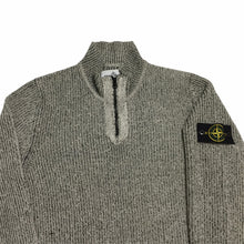 Load image into Gallery viewer, Stone Island Grey Quarter Zip Up Fleece
