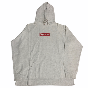 2006 Supreme Ash Grey Screenprint Box Logo Hoodie