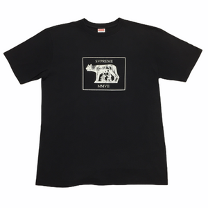 2007 Supreme Black Mother Wolf Tee