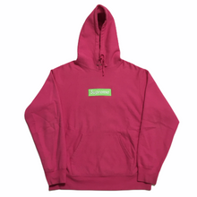 Load image into Gallery viewer, 2017 Supreme Magenta Box Logo Hoodie