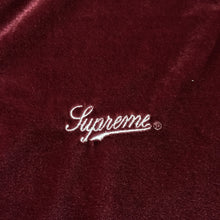 Load image into Gallery viewer, 2016 Supreme Burgundy Grey Velour Track Top