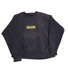 Load image into Gallery viewer, 1995 Supreme Gold Nylon Box Logo Crewneck