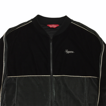 Load image into Gallery viewer, 2016 Supreme Black Grey Velour Track Top