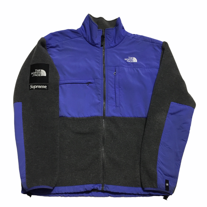 2008 Supreme x The North Face Purple Grey Denali Fleece