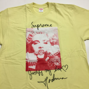 2018 Supreme Yellow Madonna Tee