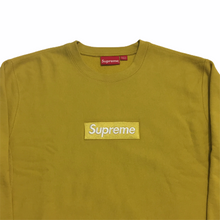 Load image into Gallery viewer, 2018 Supreme Mustard Box Logo Crewneck