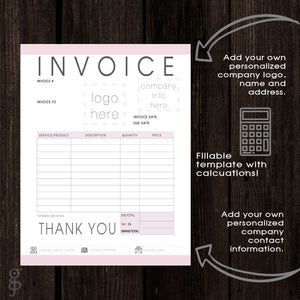 add your logo to this template, calculable template, download, customize template