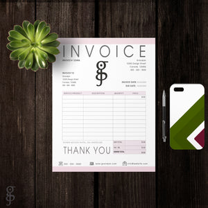 invoice template, business tools, fillable, editable template