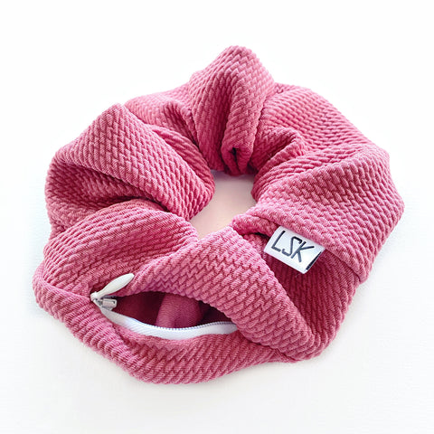 Rosé All Day Zipper Scrunchie