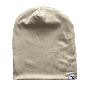 Cream Of The Crop Ribbed Adult Slouchy Beanie