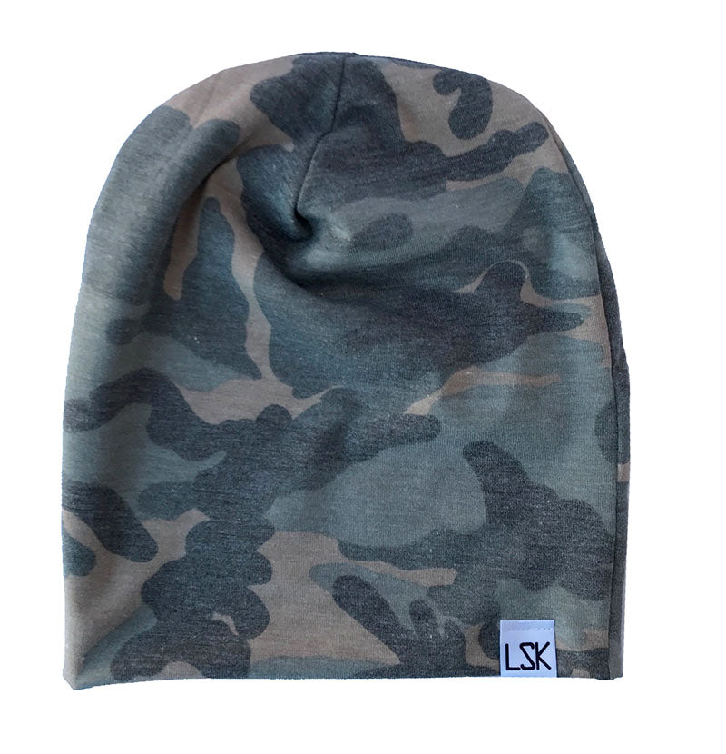Faded Camo Adult Slouchy Beanie