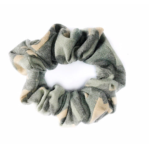 Faded Camo Scrunchie