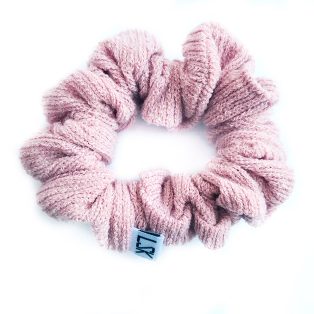 Blush Ribbed Sweater Scrunchie