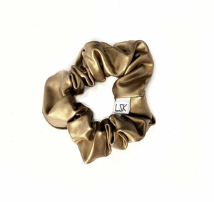 Gold Glam Scrunchie