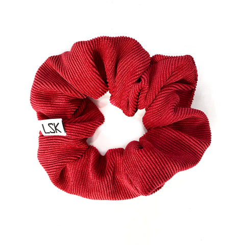 Holly Berry Corduroy Scrunchie