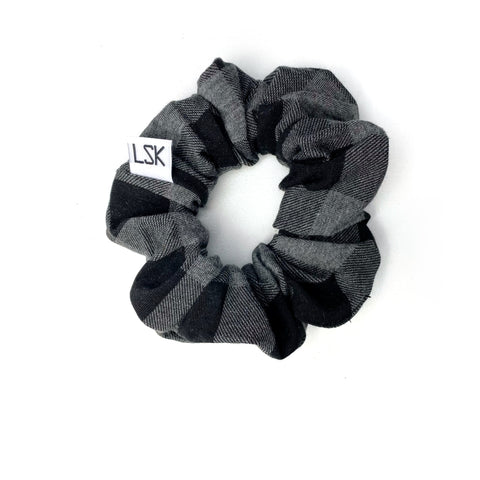 Greyed out Plaid Scrunchie