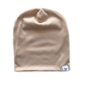 In The Nude Ribbed Adult Slouchy Beanie