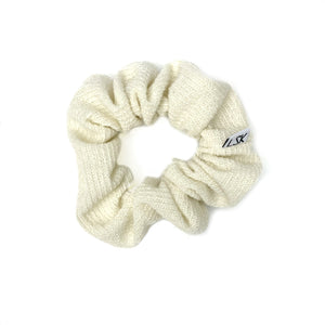 Cream Ribbed Sweater Scrunchie