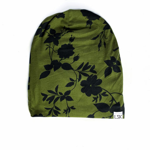 Army Floral Adult Slouchy Beanie