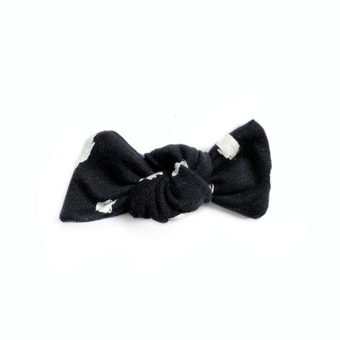 Black Doodle Dots Bow Add On