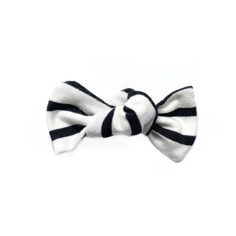 Black Stripe Bow Add On