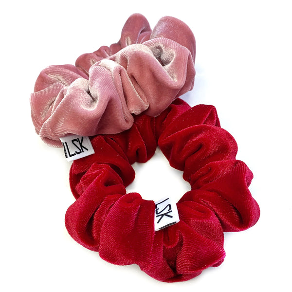 Rose Velvet Scrunchie