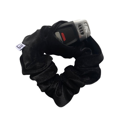 Black Magic Velvet Zipper Scrunchie