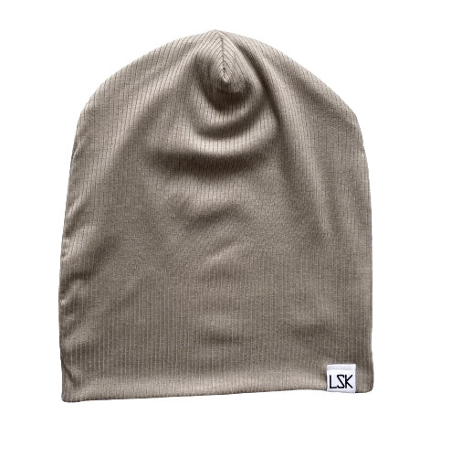 Cement To Be With You Ribbed Slouchy Beanie